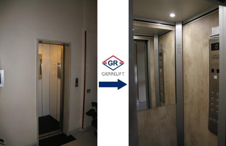 Gierre lift prodotto for Cabine dell hotel di yellowstone del lago